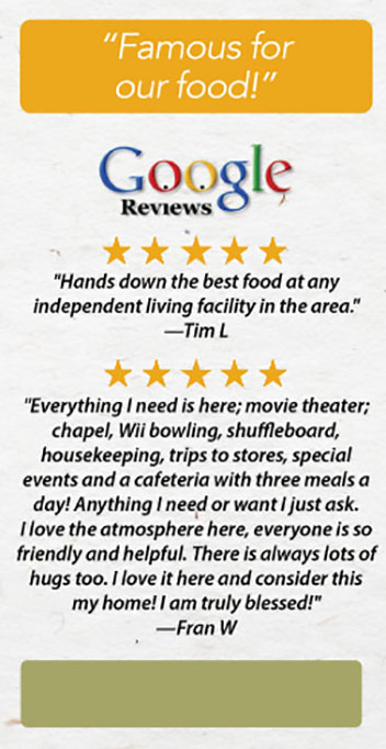 Google Food Review 5 star image